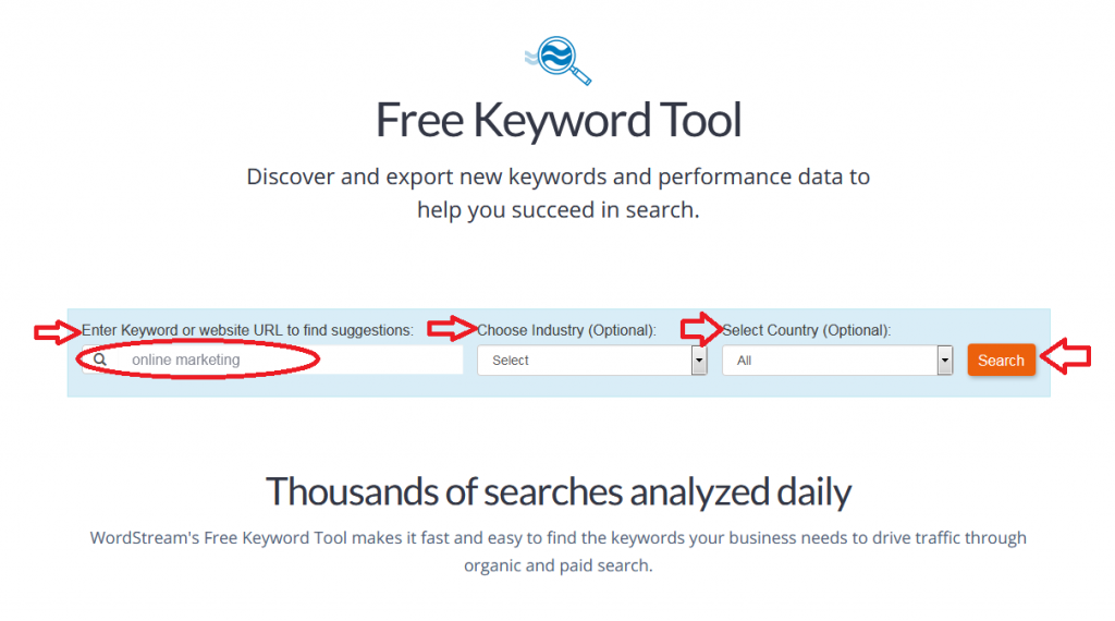 wordstream free tool