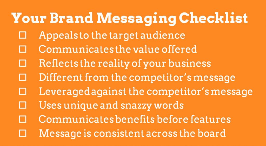brand messaging checklist