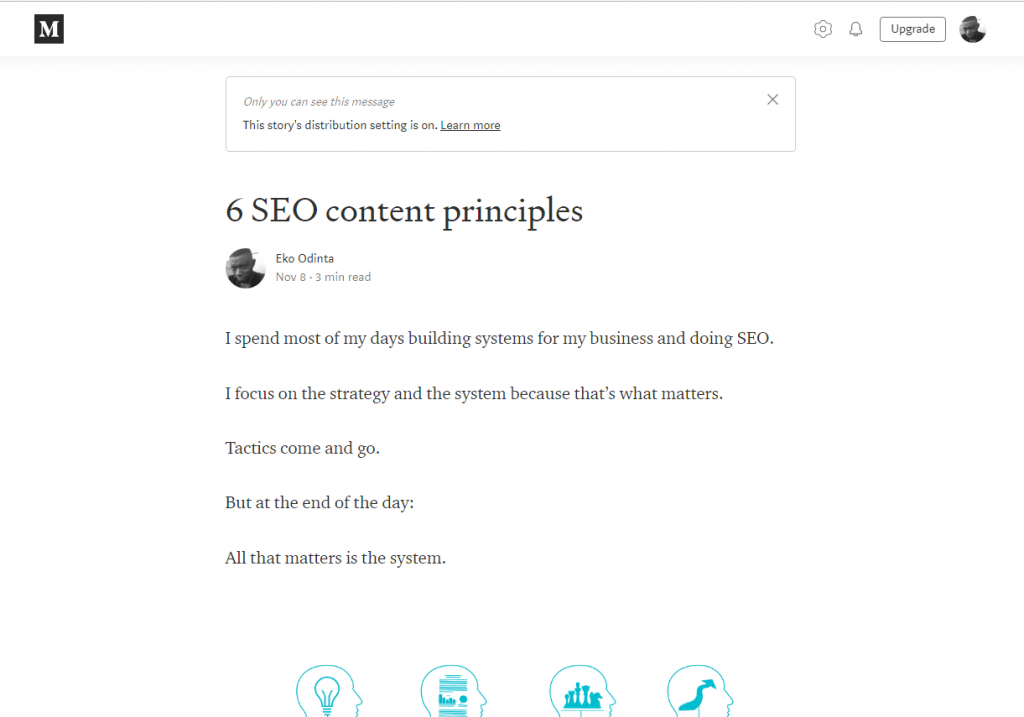 Medium Seo principles