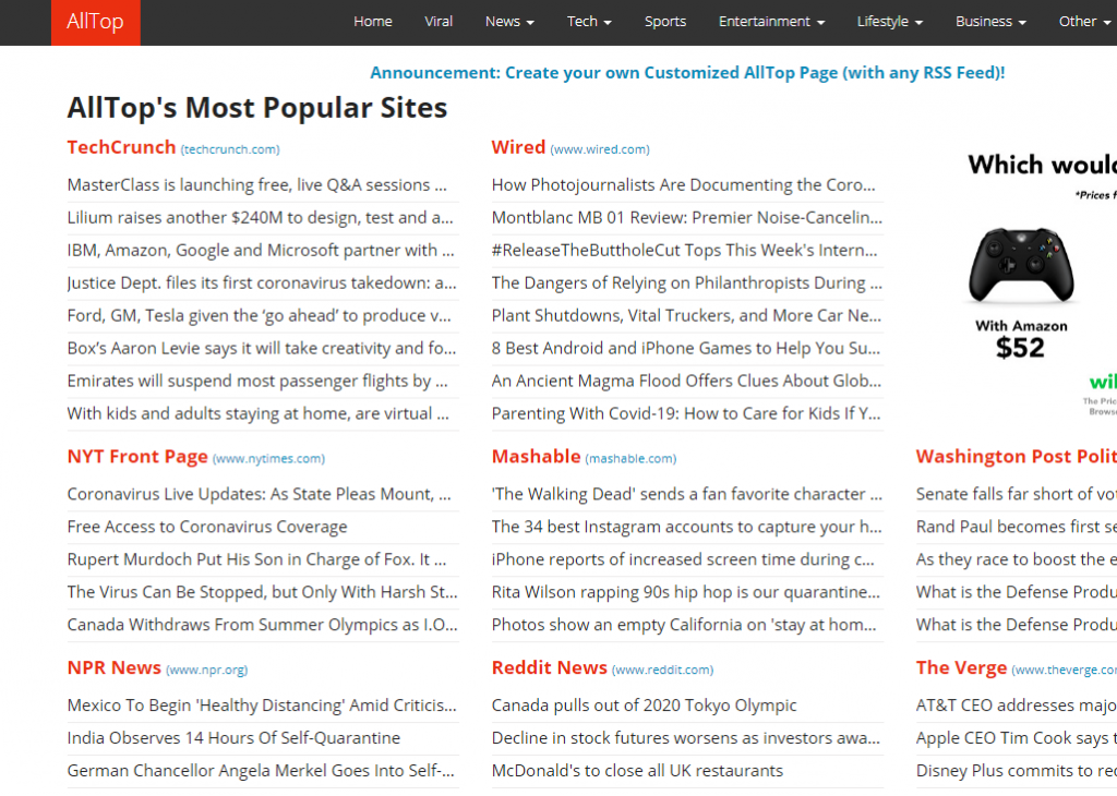 alltop rss feeds