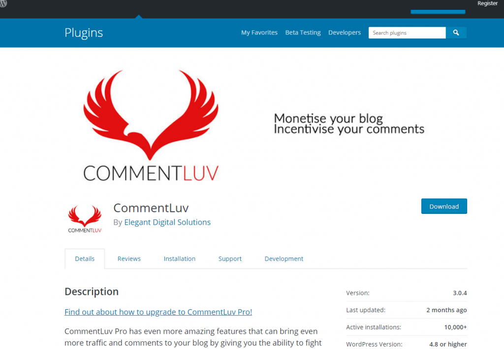 commentluv wordpress plugin for blog marketing