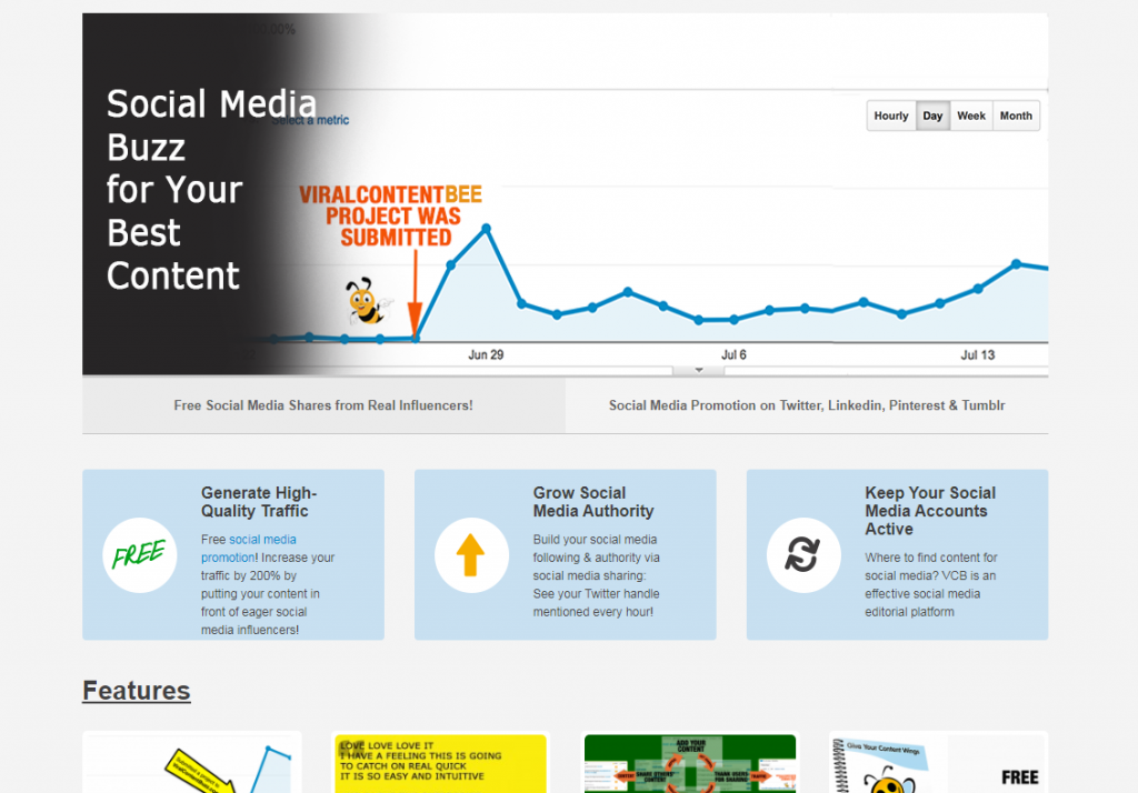 viral content bee web promotion