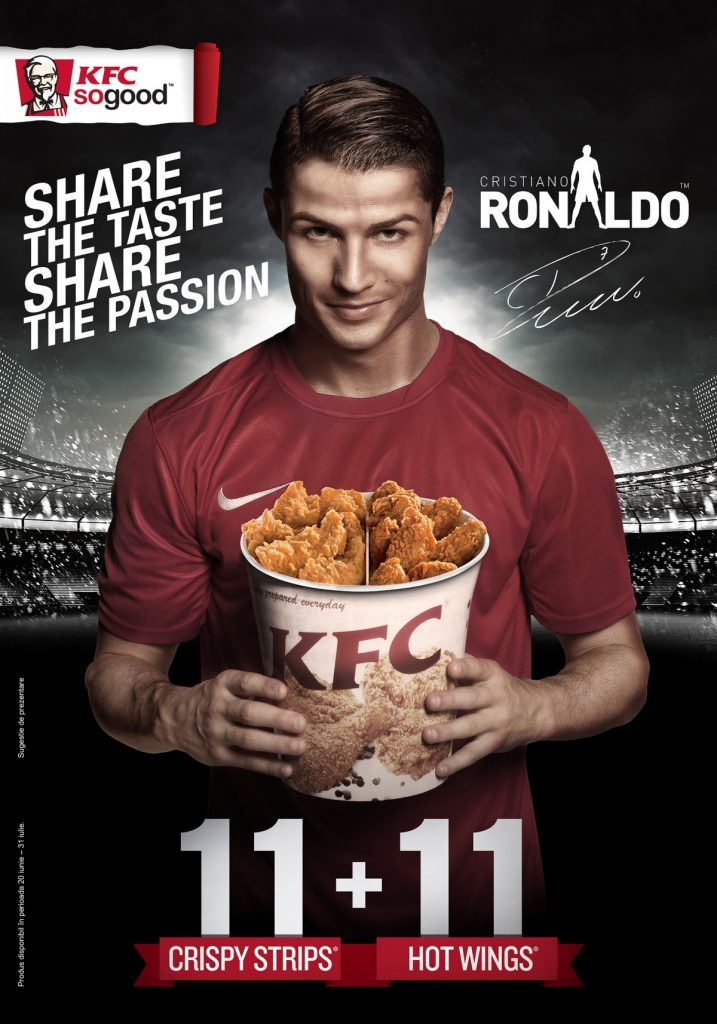 influencer marketing christiano Ronaldo KFC