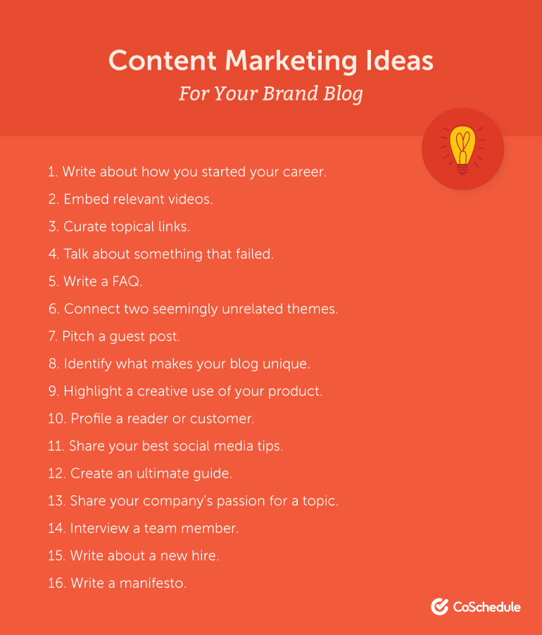 content marketing ideas for your blog coshedule