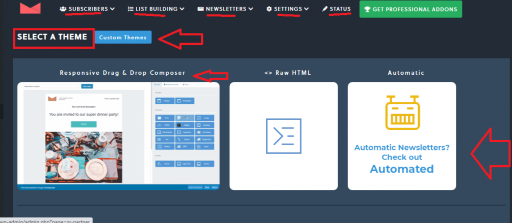 design your email newsletter subscription form
