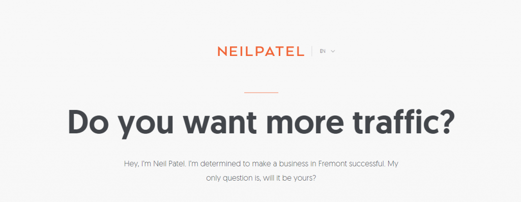 Do you want more traffic? NEIL PATEL'S HOME PABE