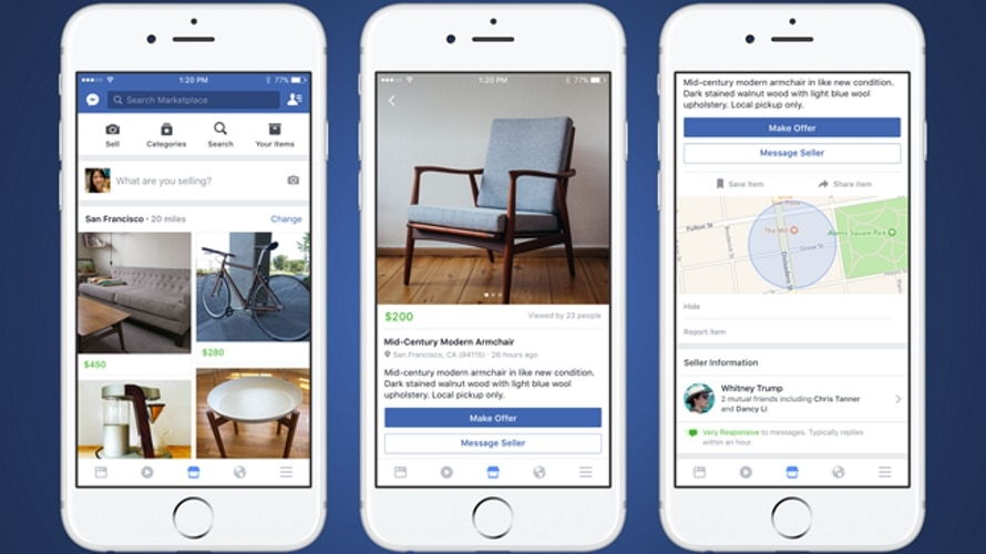 use social media and facebook marketplace to promote your brand, products and services